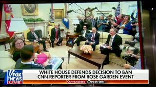 Reporter yells questions at President Trump