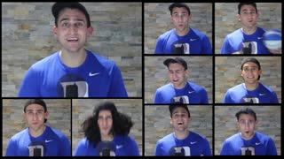 "One-man a capella of Justin Bieber's ""What Do You Mean"""