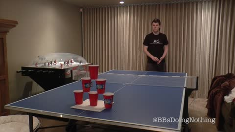 Greatest beer pong trick shot you'll ever see?