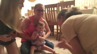 Baby's First Steps Caught On Camera! - Video