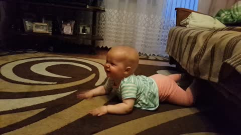 8-Month-Old Baby Laughs Hysterically at 2-Year-Old Sister!