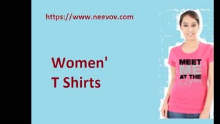 Pink Colour Graphic Design Womens T Shirts - Video