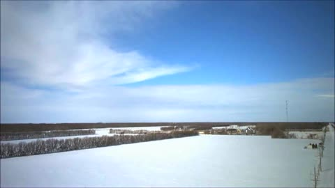 Afternoon Drone Rise Over Grunthal Manitoba