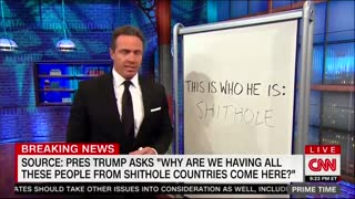 Chris Cuomo Does Exactly What He Derides Trump For Doing: Uses Word 'S***hole' on Live TV - Video