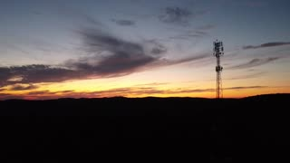 Sunset view from a drone
