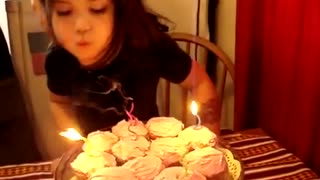 Always hold your hair back when blowing out birthday candles! - Video