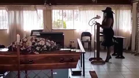 The funeral service of Ouma Martha Marais held at the Anglican church in Eersterust