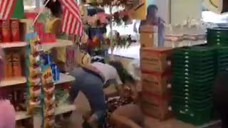 Girl Fight in Dollar Store - Video
