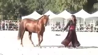 Beautiful Dance Performance By a Girl and Her Arabian Horse - Video