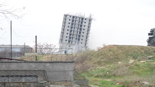 Failed Building Demolition in Sevastopol - Video