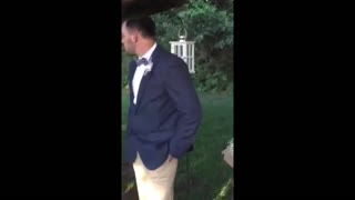 Groom Struggles To Contain His Emotions On Wedding Day - Video