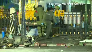 Bangkok blast suspect seen by security camera - Video