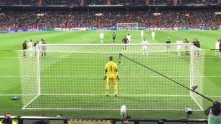 Cristiano Ronaldo Penalty Shot Hits Camera Holder In The Face - Video