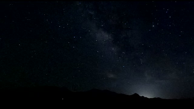 Perfect night lapse footage of Milky Way galactic core