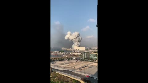 Large explosion rips through the Lebanese capital Beirut
