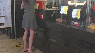 Fast Food Customer Launches Drink at Employee