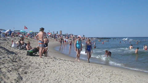OCEAN GROVE BEACH - ANGLED VIEW - NJ New Jersey Shore Travel