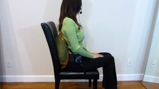 How To Sit with Low Back Pain at Driving or Working  - Video