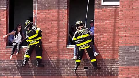 Fireman Surprises Girlfriend With A Marriage Proposal During A Drill