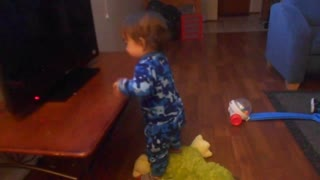 A mocking 14m old baby boy - Video