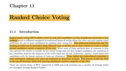 Weighted Vote Algorithms, Ranked Choice Voting