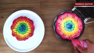 How to make rainbow waffles! - Video