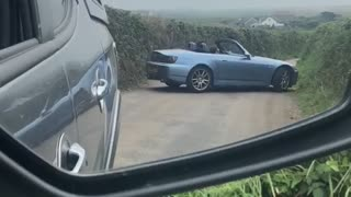 Car Does 15-Point-Turn on Country Lane
