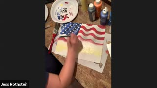 Together We Stand American Flag New York Skyline Acrylic Painting Tutorial