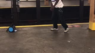 Subway dance routine guy polo shirt