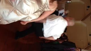 Couple Busts A Move On Wedding Day