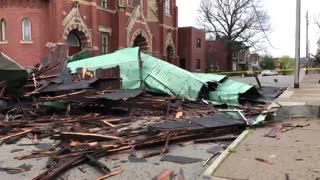 80 mile per hour winds rip the roof off 125-year-old church