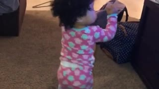 Baby Girl Adorably Dances To Favorite Music