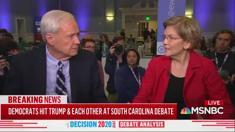 Warren throws a fit when questioned about her BS