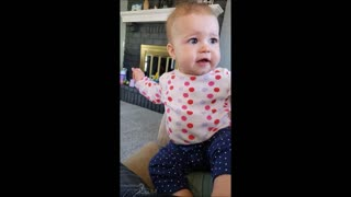 Baby Has An Adorable Reaction Whenever Dad Blows Air In Her Face
