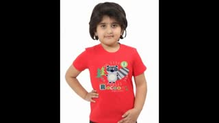 Graphic Design Fuchsia Colour Kids T Shirts - Video