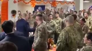 President Trump visiting our DC troops!