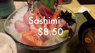 Day 2 Sashimi lunch in Japan  - Video