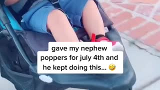 Poppers Keep Little Guy Laughing
