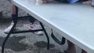 Man drinks spilled beer - Video
