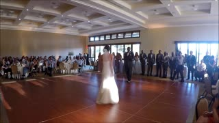Bride and groom's surprise Disney mashup wedding dance - Video