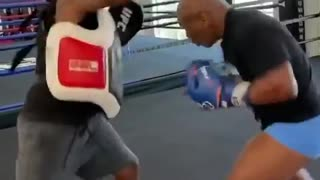 New video of Mike Tyson training for Roy Jones match goes viral