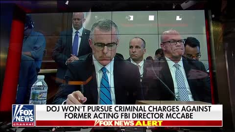 News that Justice Dept will not pursue case against McCabe