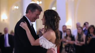 Bride And Father Are Halfway Through Dance When A Recording From Daughter's Voice Starts Playing - Video