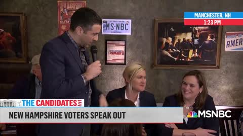 New Hampshire voter calls out MSNBC over Sanders
