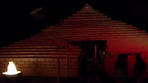 Home owner turns house into haunted pyramid