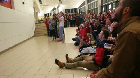 NC State students react to game winning basket
