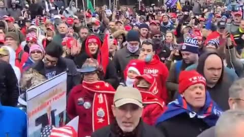 WATCH: Millions of Trump Supports Recite Lord's Prayer In Freedom Plaza in DC!