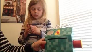 How To Put Together The Robot Valentine Box From Walmart - Video