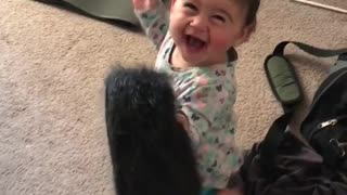 baby squeals  - Video