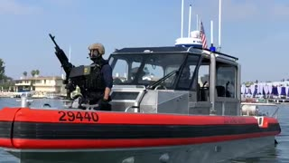 President Trump US Coast Guard